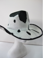 Cowboy Hat with Cow Skin Pattern