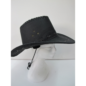 Black Cowboy Hat with Trim
