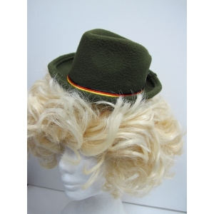 Mini Green German Oktoberfest Hats