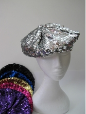 Colour Sequin Beret - Hats