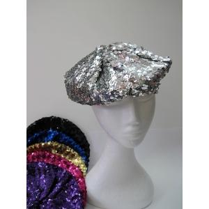 Colour Sequin Beret - Hats