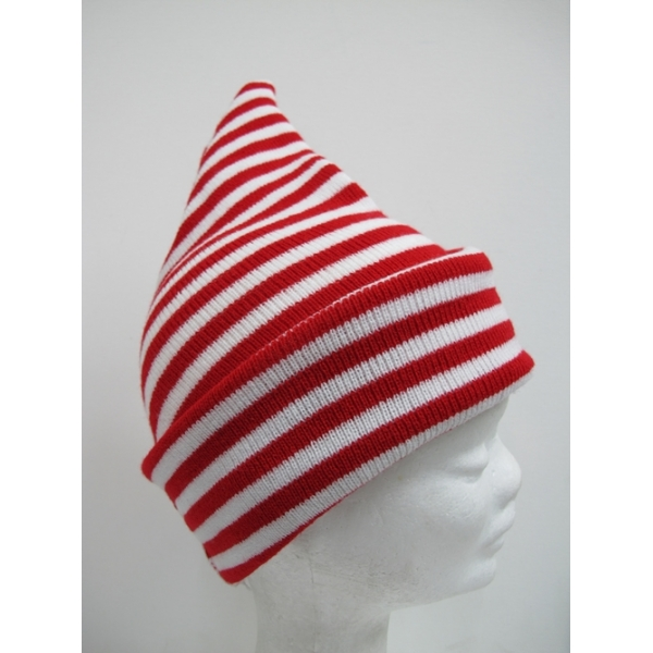 Elf Red White Striped Hat Christmas Hats