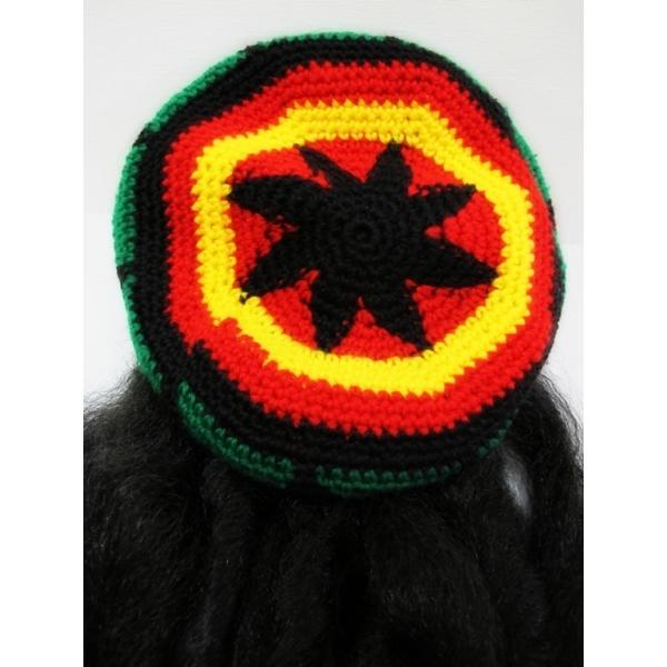 Rasta Hat with Hair 41869ff2da79