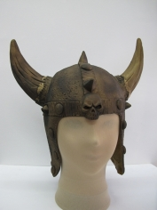 Rubber Viking Helmet (Gold) - Hat