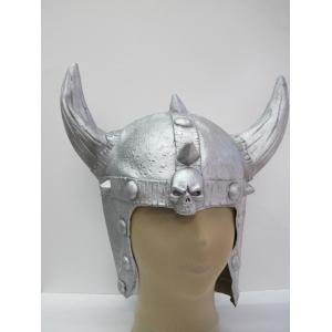 Rubber Viking Helmet (Silver) - Hat