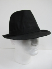 Black Trilby - Hats