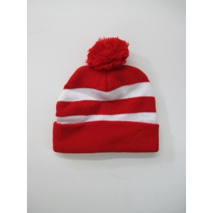 Red White Beanie - Hats