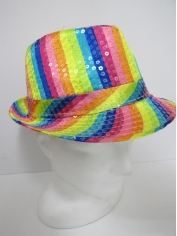 Rainbow Sequin Trilby - Hat