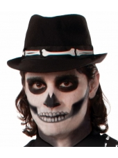 Skeleton Bones Fedora Hat