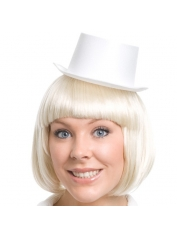 Mini Top Hat White Satin