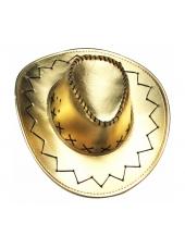 Cowboy Hat Metallic Gold - Cowboy Costume Hats