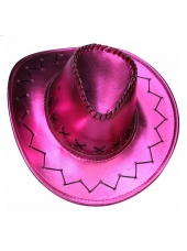 Cowboy Hat Metallic Pink - Cowboy Costume Hats
