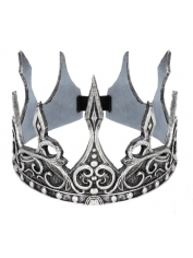 King's Crown Latex Silver - Medieval Costumes