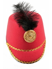 Toy Soldier Hat Red - Nutcracker Drum Hat