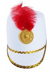 Toy Soldier Hat White - Nutcracker Drum Hat