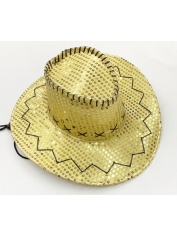 Cowboy Gold Sequin Hat - Cowboy Costumes