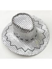 Cowboy Silver Sequin Hat - Space Cowboy Costumes