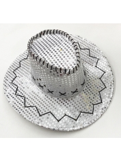 Cowboy Silver Sequin Hat - Space Cowboy Costumes