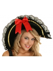 Pirate Hat Felt with Lace Trim