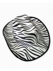 Cowboy Hat with Zebra Skin Pattern