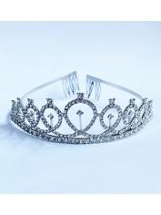 Silver Tiara with Rhinestone