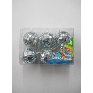 6 Pieces Small Mirror Balls Set