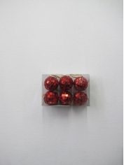 6 Pieces Mini Mirror Balls Red