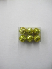 6 Pieces Mini Mirror Balls Yellow