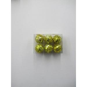 6 Pieces Mini Mirror Balls Yellow