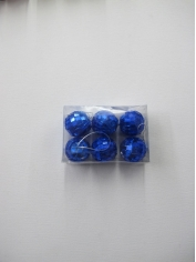 6 Pieces Mini Mirror Balls Blue
