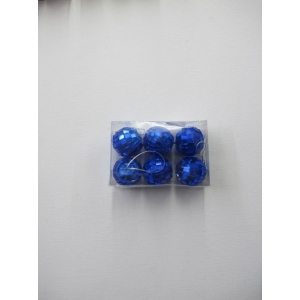 6 Pieces Mini Mirror Balls Blue