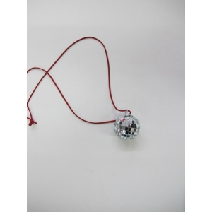 Silver Mirror Ball Necklace