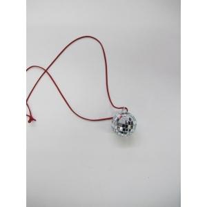 Silver Mirror Ball Necklace