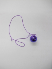 Purple Mirror Ball Necklace