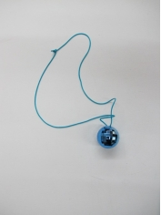 Blue Mirror Ball Necklace