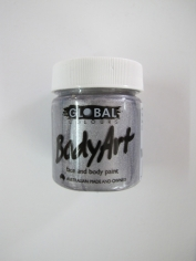 Silver Face Paint 45ml - Make Up