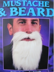 White Mustache and Beard- Make up