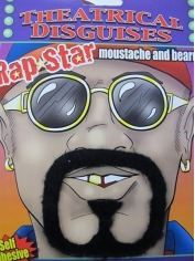 Rap Star Mustache and Beard