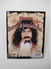 Black Pirate Beard and Mustache