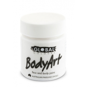 White Face Paint 45ml - Global Face Paint