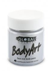 Metallic Silver Face Paint 45ml - Global Face Paint