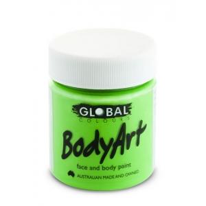 Fluoro Green Face Paint 45ml - Global Face Paint