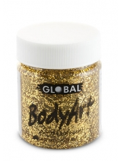 Gold Glitter Face Paint 45ml - Global Face Paint