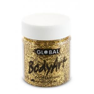 Gold Glitter Face Paint 45ml - Global Face Paint