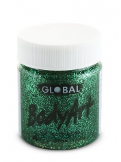 Green Glitter Face Paint 45ml - Global Face Paint