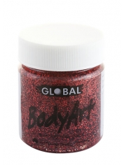 Red Glitter Face Paint 45ml - Global Face Paint