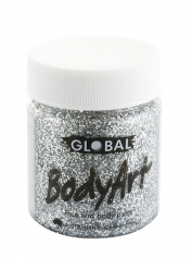 Silver Glitter Face Paint 45ml - Global Face Paint