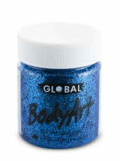 Blue Glitter Face Paint 45ml - Global Face Paint