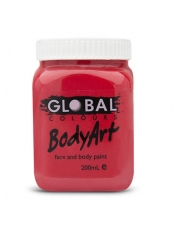 Red Face Paint 200ml - Global Face Paint