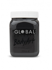 Black Face Paint 200ml - Global Face Paint